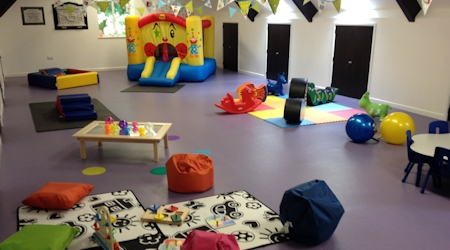 A large spacious airy room to allow the children to explore